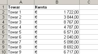 Format walutowy w Excelu